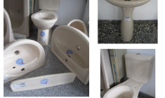 BATHROOM-SET KERAMAG inkl. washbasin+WC+water-tank+shelf+pedestal
