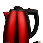 Hoffmanns stainless steel kettle black and red