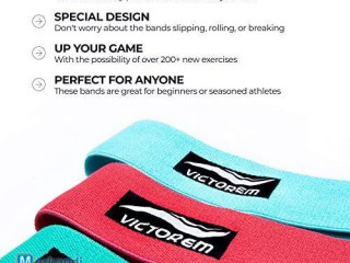 Victorem Cloth Resistance Bands - Fabric Hip Booty Bands