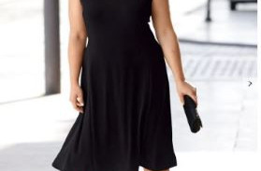 Dżersejowa sukienka o lekko kołyszącym fasonie